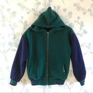 Avalanche Green & Blue PolarTec Fleece Jacket